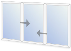 C10/O8 Horizontal sliding secondary glazing configuration