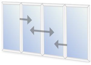 C11/O9 Horizontal sliding secondary glazing configuration