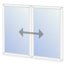 C8/O6 Horizontal sliding secondary glazing configuration