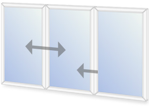 C9/O7 Horizontal sliding secondary glazing configuration