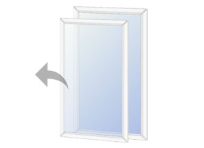 Lift out style secondary glazing unit