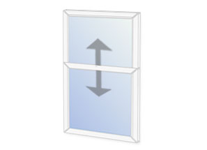 Vertical sliding secondary glazing unit