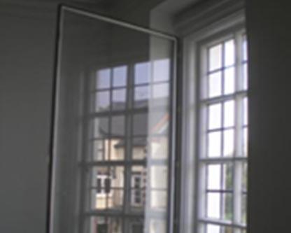 Hinged secondary glazing